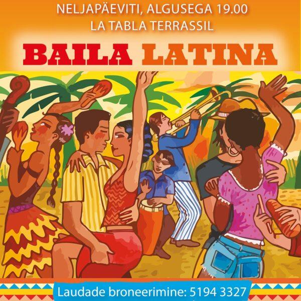 La Tabla BAILA LATINA - neljapäev on uus REEDE